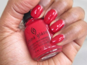 china glaze salsa nail polish