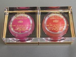 ysl fuschia temptation and bright coral creme de blush