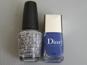 dior blue denim and opi servin up sparkle
