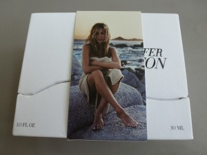 jennifer aniston perfume box