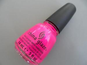 china glaze purple panic (neon) nail polish