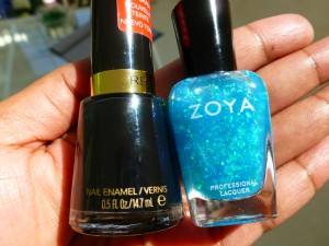 revlon knockout and zoya maisie