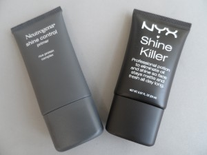 neutrogena shine control primer and nyx shine killer