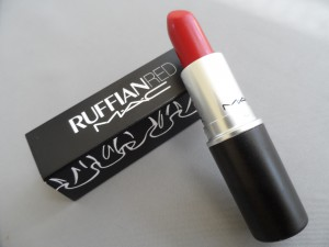 image of mac ruffian red lipstick