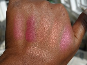 mac blush swatches